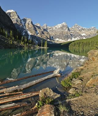 Morning at Moraine Lake